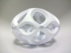 Kota Hiratsuka's curved folding modules. Curve 6 Spheral