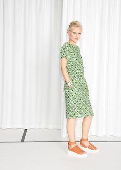& Other Stories   Elastic Waistband Dress