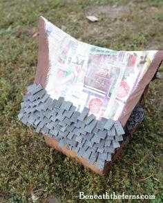 シダの下によるミニチュアドールハウス妖精の家のチュートリアル