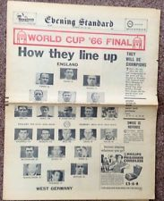 World Cup 1966 - London Evening Standard Headlines Front/Back Cover