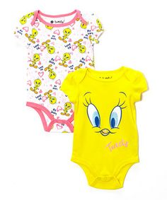 Love this Yellow Tweety Bird Bodysuit Set - Infant by Bentex on #zulily! #zulilyfinds