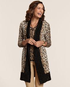 Vivid Cheetah Amelia Cardigan from Chico's on shop.CatalogSpree.com, your personal digital mall.