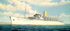 """The P&O Liner """"Chusan""""(1950) This much loved liner was the last to make the regular U.K.-India-Australia serviced in the early 70's."""