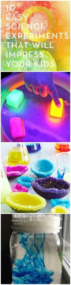 Lemon volcanoes, crystal rainbows, and color clouds -- these fun and easy DIY science experiments will wow the whole family. Lemon volcanoes, crystal rainbows, and color clouds -- these fun and easy DIY science experiments will wow the whole family. Preschool Science, Science For Kids, Science Activities, Activities For Kids, Summer Science, Science Centers, Science Crafts, Science Toys, Weather Activities