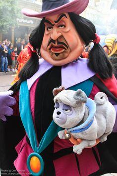literally cried every time i saw this character at Disney world when i was a kid...honestly he still scares the crap outta me and I would probably still cry...   Pug, Percy