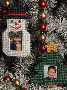 Plastic Canvas Picture Ornaments