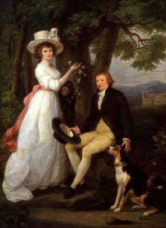 Anna Maria and Thomas Jenkins, by Angelica Kauffman, 1790.  National Portrait Gallery (London)