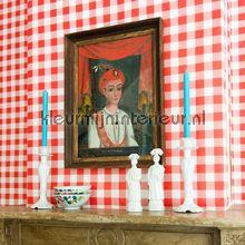 Check red behang 2000123 Landelijk - Cottage Room Seven