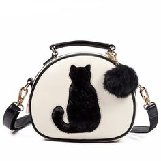 c50b8853394 Cute Leather Bag with Furry Cat Tail Design! Luggage Bags, Maine, Cat  Silhouette. Poochnkitty
