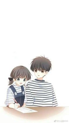 Love Never Fails Manga Cute Chibi Couple, Anime Love Couple, Cute Anime Couples, Anime Art Girl, Anime Guys, Manga Anime, Chibi Characters, Chibi Girl, Cartoon Girl Drawing