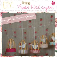 DiY : Paper bird cages, created by the-polyvore-tipgirls on Polyvore