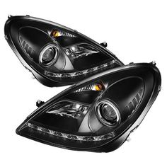 Mercedes-Benz SLK 05-10 Projector Headlights - Xenon/HID Model Only ( Not Compatible With Halogen Model ) - DRL - Black - High H1 (Included) - Low D2R (Not Included)