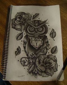 owl key- would make an amazing tattoo by josephine
