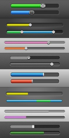 Vector Slider Bars by frbird Web Design Elements: Slider Bars. This is a vector illustration. You can be scaled t Html Form Design, Design Elements, Web Design, Graphic Design, Slider Bar, Mobile App Templates, Progress Bar, Bar Games, Game Icon