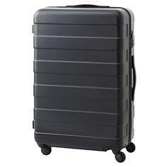 キャリーバーの高さを自由に調節できるストッパー付きハードキャリー(60L) 黒 | 無印良品ネットストア 預け荷物サイズ。女子旅冬1週間分くらいは入る。ストッパーが電車などで本当に便利。疲れが全然違う。キャリーバーの長さを変えられるのも助かる。主張の少ないデザインなので服と合わせやすい。ただし人とかぶることがある。上にバッグを乗せて運ぶには女子だとこの高さがギリギリだと思う。