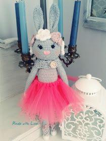 Bunny, królik , szydełko, crochet , tutu