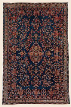 """MANCHESTER KASHAN, 4' 6"""" x 6' 7"""" — Circa 1900 —Price: $9,800, Central Persian Antique Rug - Claremont Rug Company"""