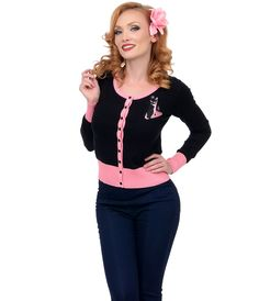 Shop 1950's Style Cardigan Sweaters and Twin Sets