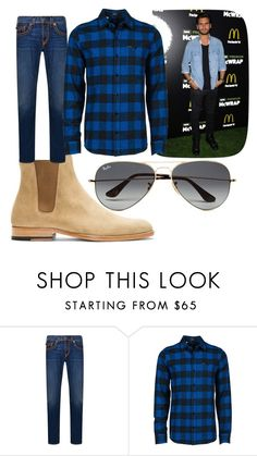 """""""#scottdisick"""" by nisacornelya ❤ liked on Polyvore featuring Yves Saint Laurent, True Religion, Volcom, Ray-Ban, men's fashion and menswear"""