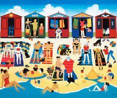 Beach Huts art.