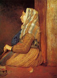 edgar degas most famous paintings | Roman Beggar Woman
