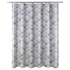 J-Wave Shower Curtain - Charcoal (Print) - Allure : Target