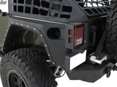 Smittybilt XRC Armor Rear Corner Guards for 07-13 Jeep® Wrangler Unlimited JK 4 Door