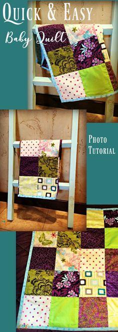 Easy Patchwork and Fleece Doll Blanket Tutorial | Crafts | Pinterest ...