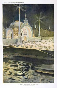 Poster - Travel - Exposition of Paris 1900 Nascent Edwardians flocked to the 1900 Paris Exposition for all the latest in science and technology as well as emerging trends in the arts and crafts.