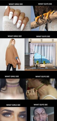 What girls see vs. What guys see