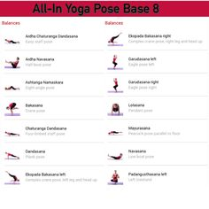 All-in Yoga pose base page 8