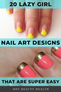 Heres a curated list of simple nail art designs for beginners. These cute diy nail ideas are so easy that any nail newbie can do them! Click pin for step by step tutorials!