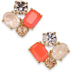 Kate Spade New York Gold-Tone Cluster Stud Earrings ($34) ❤ liked on Polyvore featuring jewelry, earrings, stud earrings, gold tone jewelry, kate spade earrings, kate spade and goldtone jewelry