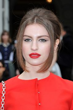 2013 Red Lips for Fashion Girls .   #red  #lips  #girls #fall #winter   www.loveitsomuch.com