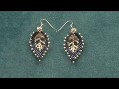 """Beading4perfectionists : Russian Leaf with a """"vein"""" done with seedbeads beading tutoriall - YouTube"""
