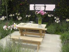 House & Garden Fair 2007 | Projects | Richard Miers - Garden Design Outdoor Furniture Sets, Outdoor Decor, Garden Inspiration, Garden Design, Home And Garden, Table, Projects, House, Home Decor