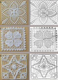 croche squares receitas - Pesquisa Google