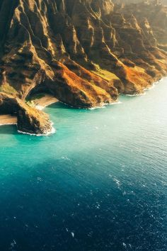 The Napali Coast ~ Kauai, Hawaii Drone Photography, Nature Photography, Travel Photography, Kauai Hawaii, Hawaii Travel, Napali Coast Kauai, Maui Resorts, Maui Vacation, Hawaiian Islands