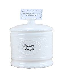 #Giftideas. Young's Ceramic Positive Thought Jar with 365 Positive Thoughts, 6.25-Inch
