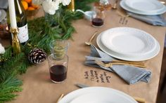 A Low-Key Christmas Table Setting   Clementine Daily