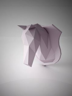 DIY PAPER SCULPTURES Dreamy Unicorn Horse Head By Ottockraft