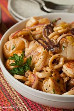 Seafood Salad – A Family Feast® – Carpe Diem Willkommen Seafood Platter, Seafood Salad, Seafood Pasta, Seafood Dishes, Seafood Recipes, Cooking Recipes, Fish Recipes, Fish Dishes, Recipes