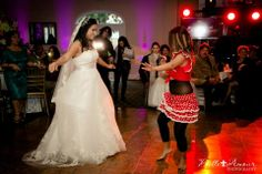 Bride and Sister's doing a Peruvian Dance.