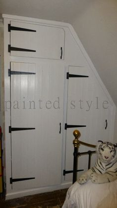 tongue and groove cladding an over bed wardrobe - Google Search