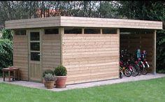 T010 tuinhuis met fietsenstalling
