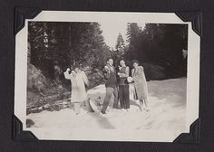 Belle and Larry, 1938, Friant Snowline