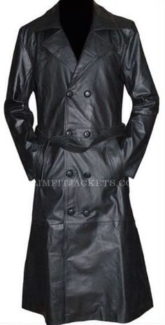 Buffy The Vampire Slayer Spike Trench Leather Coat Costume Spike Buffy, Buffy The Vampire Slayer, Jackets Uk, Slim Fit Jackets, Men's Leather Jacket, Leather Trench Coat, Costumes For Sale, Halloween Costumes