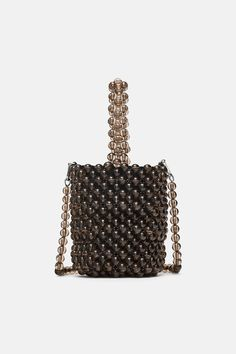 e7dbc331f1ca19 Image 2 of MINI BEADED BUCKET BAG from Zara Zara Outfit, Handmade Bags,  Beaded