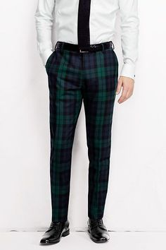 Shop Men's Pants from Lands' End today. Browse our collection of lasting quality men's chinos, corduroy pants, dress pants and more. Mens Fashion Blog, Plaid Fashion, Mens Fashion Suits, Mens Suits, Fashion Outfits, Mens Plaid Pants, Tartan Men, Sharp Dressed Man, Well Dressed Men