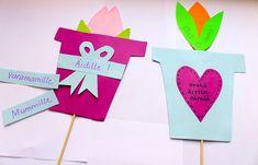 Äitienpäivän askarteluvinkki: värikkäät tulppaanit Logos, Logo, A Logo